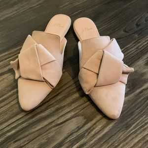 JCrew Pointed Toe Slides in Suede